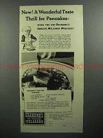1944 Grandma's Old Fashioned Molasses Ad - Pancackes