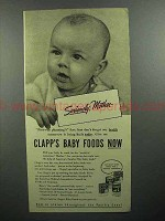 1944 Clapp's Baby Food Ad - Seriously, Mother
