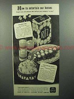 1944 Nabisco Ritz Crackers Ad - Entertain our Heroes