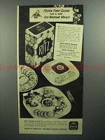 1944 Nabisco Ritz Crackers Ad - Festive First Course