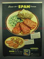 1944 Hormel SPAM Ad - Smash Hit Dinner