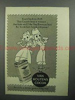 1944 Van Houten's Cocoa Ad - Since Back in 1828
