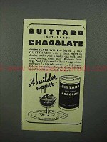 1944 Guittard Chocolate Ad - Chocolate Whip
