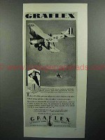 1929 Graflex Camera Ad - Bi-plane airplane