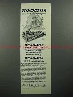 1929 Winchester Guns, Ammunition, Sporting Goods Ad