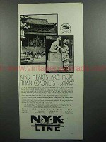 1930 NYK Line Cruise Ad - Kind Hearts Are More