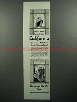 1930 Panama Pacific Line Cruise Ad - New York to and From California