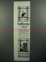 1930 Panama Pacific Line Cruise Ad - California