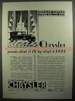 1930 Chrysler Imperial Car Ad - Proves What It Is