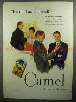 1930 Camel Cigarettes Ad - It's the Camel Blend