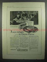 1930 Kraft Velveeta Cheese Ad - A New Delight in Flavor
