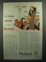 1930 Mobil Oil Ad - See Laundress, Dressmaker