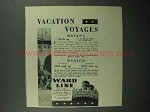 1930 Ward Line Cruise Ad - Vacation Voyages