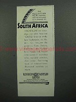 1930 Union Castle Line Cruise Ad - South Africa