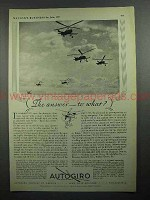 1931 Autogiro Aircraft Ad - The Answer to What