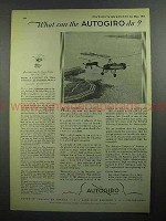 1931 Autogiro Aircraft Ad - What Can the Autogiro Do?