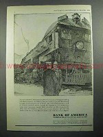1931 Bank Of America Ad - Railroad Locomotive