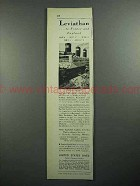 1931 United States Lines Cruise Ad - Leviathan