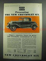1931 Chevrolet Six Standard Coupe Car Ad!