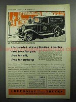 1931 Chevrolet Six Light Delivery Panel Truck Ad!