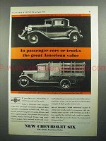 1931 Chevrolet Coupe Car & Truck Ad - American Value