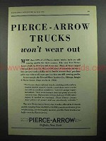 1931 Pierce-Arrow Trucks Ad - Won't Wear Out