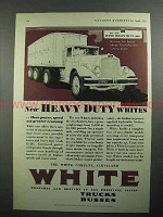 1931 White Super Heavy Duty Six Truck Ad