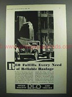 1931 REO Truck Ad - Fulfills Reliable Haulage