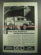 1931 REO Truck Ad - Fitting Your Business