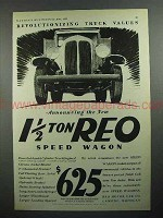 1931 REO Speed Wagon Truck Ad - Revolutionizing