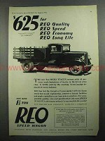 1931 REO Speed Wagon Truck Ad - Quality, Speed