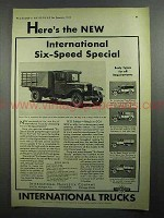 1931 International Harvester Six-Speed Special Truck Ad