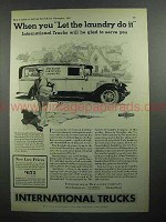 1931 International Harvester Truck Ad - Let the Laundry