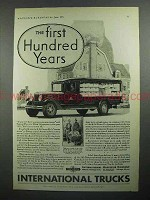 1931 International Harvester Truck Ad -  Hundred Years