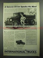 1931 International Harvester Truck Ad - Veteran Driver