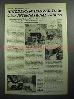 1931 International Trucks Ad - Builders of Hoover Dam
