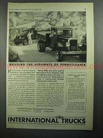 1931 International Harvester Trucks Ad - Highways