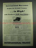 1931 International Harvester Trucks Ad - In High!