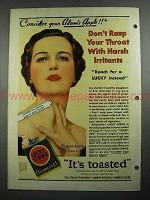 1931 Lucky Strke Cigarettes Ad - Virginia Cross