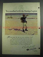 1931 Chesterfield Cigarettes Ad - The Foreign Legion
