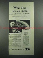 1931 Colgate's Toothpaste Ad - This Seal
