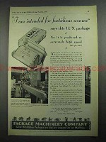 1931 Package Machinery Co. Ad - Lux Soap