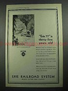 1931 Erie Railroad Ad - Erie 77 is 35 Years Old