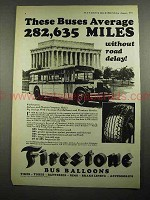 1931 Firestone Bus Balloons Tire Ad - Buses Average