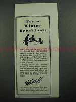 1931 Kellogg's Rice Krispies Ad - Winter Breakfast