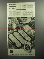 1945 Nabisco Ritz Crackers Ad - Thanksgiving