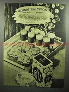 1945 Nabisco Ritz Crackers Ad - Summer Day
