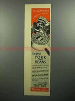 1945 Van Camp's Pork and Beans Ad - You Conserve