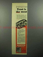 1945 Armour Treet Meat Ad - Treet is the Meat