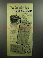 1945 Sure-Jell Pectin Ad - You Get More Jam